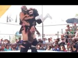 Mexican Women's Wrestling, Much Bigger Woman Wins Squash Match