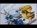 Набор для вышивки крестиком ОВЕН С пасхой. Готовая работа и оформление.