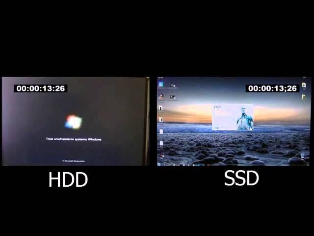 SSD vs HDD boot speed test in Windows 7 Ultimate 64bit
