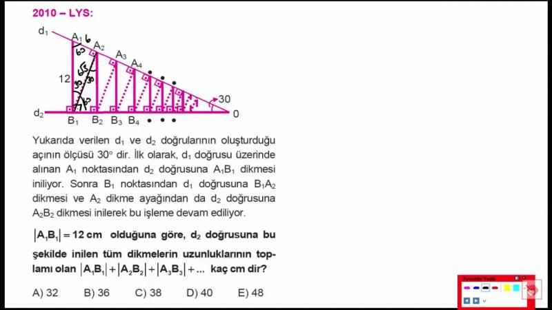 Sonsuz Geometrik Dizilerin Toplamı Soru Çözümü - Çıkmış Sorular