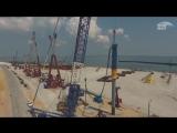 Масштабы стройки. Крымский мост от Тамани до Керчи