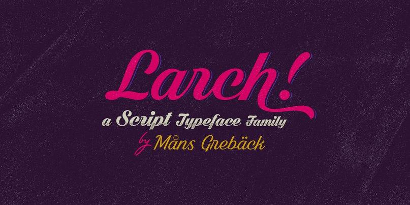 larch шрифт скачать бесплатно