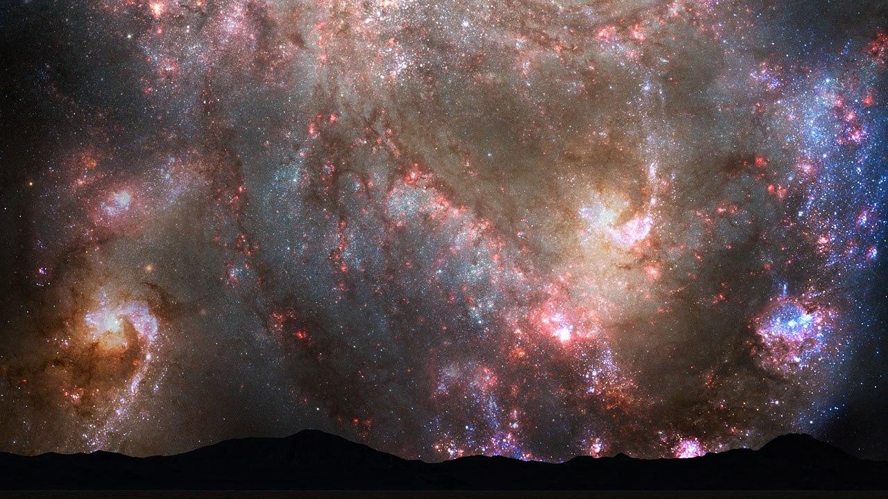 hubble galaxy collision - 1280×720