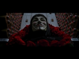 Клип V значит Vendetta под песню Skillet - Rise