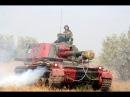 Залпом 300-30-3! Работает 152 мм Самоходная гаубица 2С3М1 07.08.2014