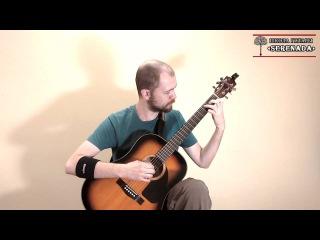 Уроки гитары Киев - Greensleeves English Folk Song. SERENADA.IN.UA