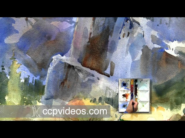 Distant Trees and Details in Watercolor Landscape with Dale Laitinen