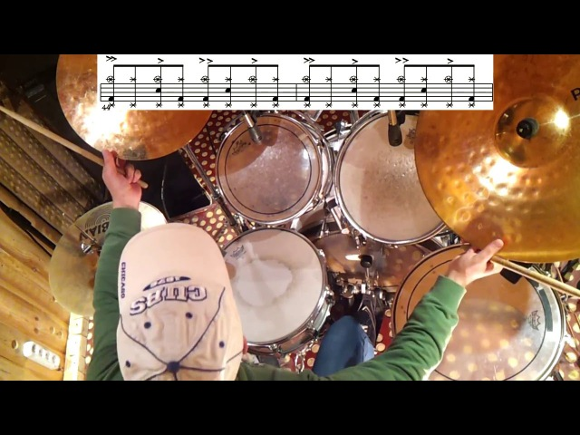 Drum lessons - Rhythms Collection (part 1) Rock Pop Beat Уроки на барабанах (урок1) drum method