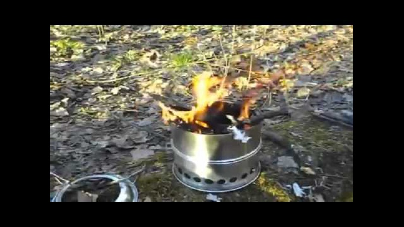 ⚠️[ТЕСТ] Пиролизная Печка-щепочница | Испытание в Лесу • Pyrolysis Wood Stove | Test in the Forest