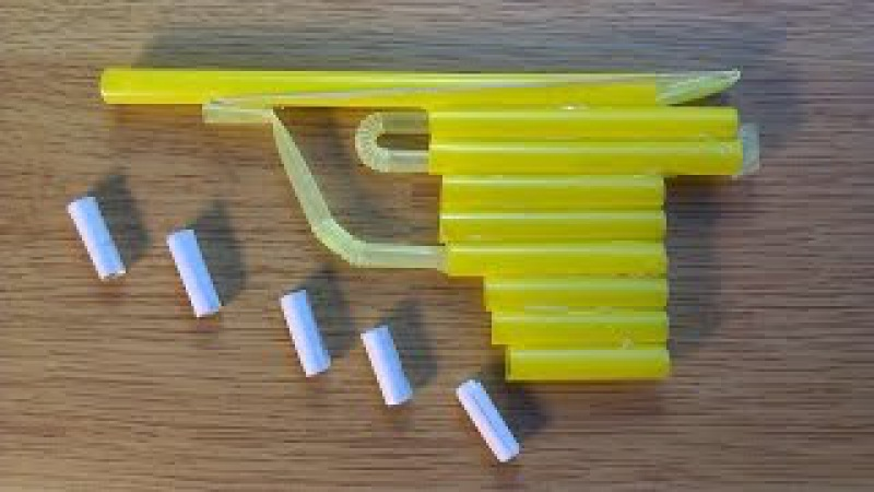How to make a gun that shoots bullets paper toy