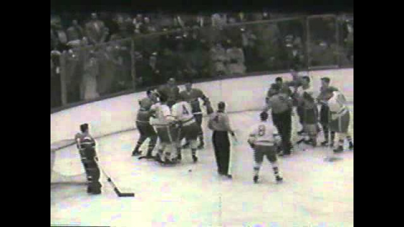 1954 Stanley Cup Finals. Canadiens vs. Red Wings