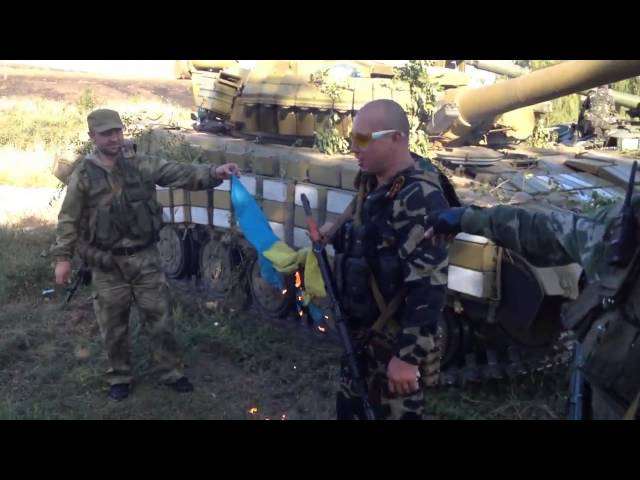 20 ополченцев на жигулях захватили колонну украинских танков (Старобешево)