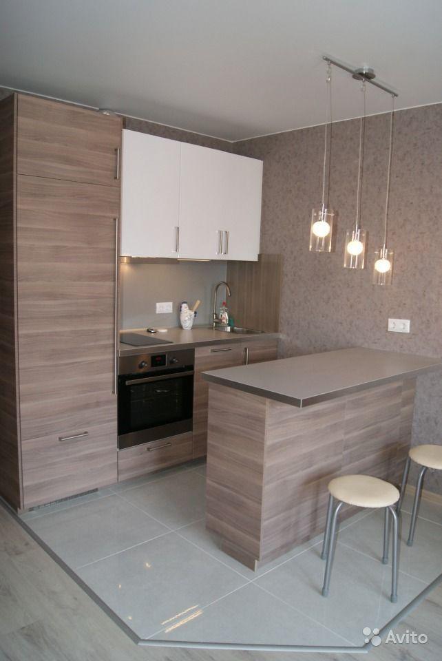 Современная кухня в квартире-студии 29 м.