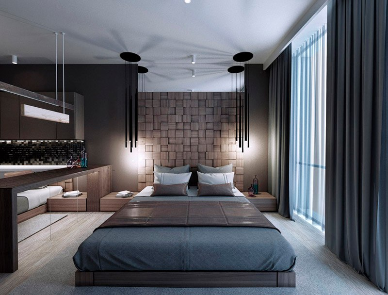 Концепт студии 30-35 м в современном стиле для апарт-отеля в Санкт-Петербурге.