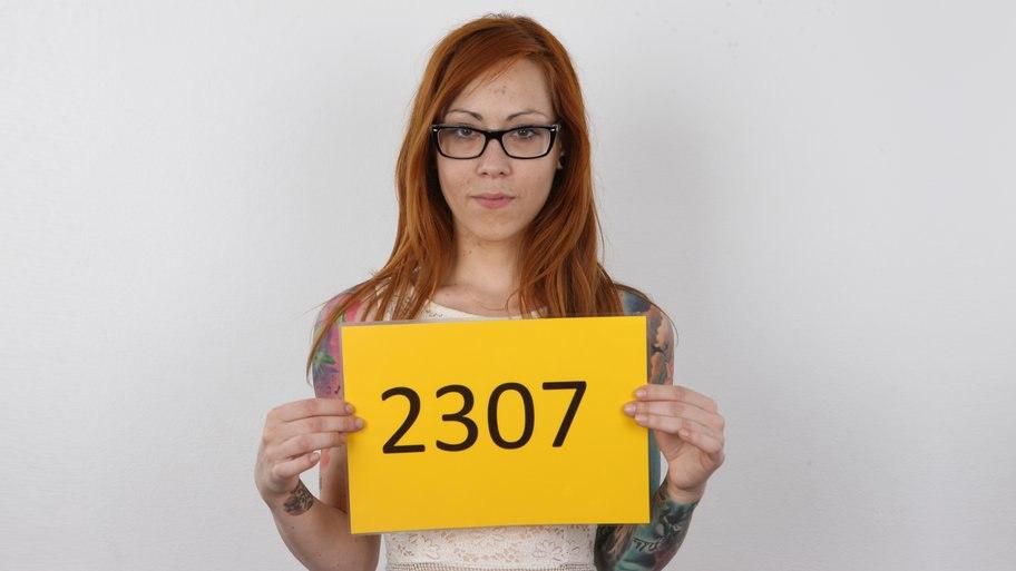 Чешская рыженькая девочка эмо Sandra на порно кастинге