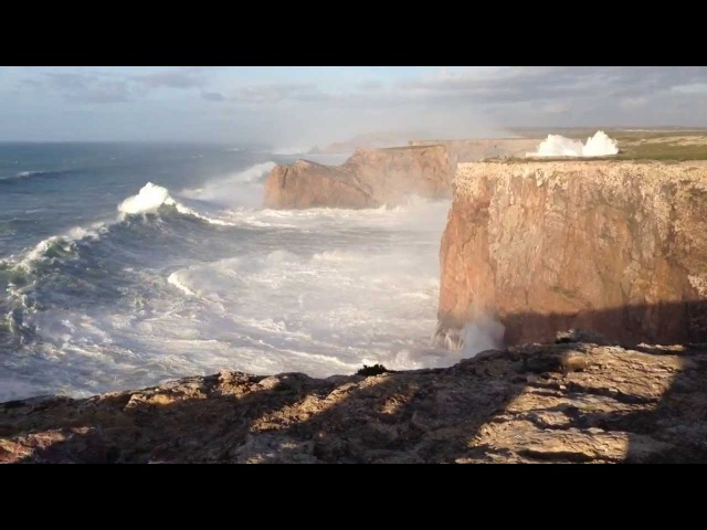 Hercules 2014 Huge waves in Sagres Portugal Cabo São Vicente 6 1 14