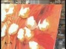 MONITOR Gabriela Mensaque realiza flores con Acrílicos Profesionales Lautrec Manos a la Obra