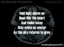 Breaking Benjamin Anthem Of The Angels Lyrics on screen