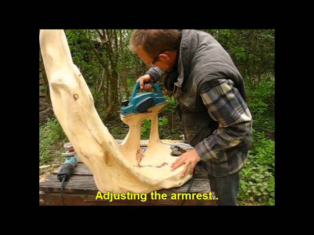 Thuja Stump Chair Carving