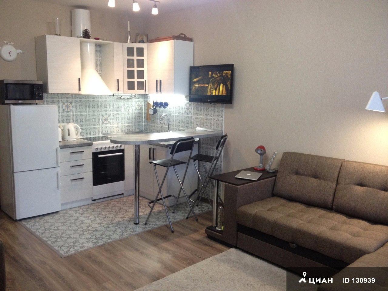 Интерьер квартиры-студии 33 м в Реутове.