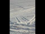 София с мамой на снегоходе
