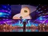 Парень перепел Miley Cyrus _Wrecking Ball_ голосами телегероев
