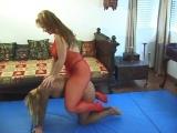 heavy brunette on slim all-fours ponygirl iii/iii