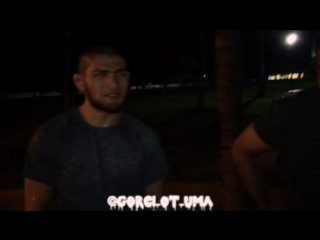 Хабиб Нурмагомедов, Эльдар Иразиев, Ислам Махачев и Омари Ахмедов в Майами