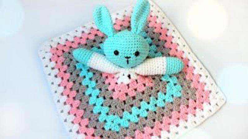 Игрушка крючком-зайчик. Для малыша (часть 1)/Crochet toy (part 1)