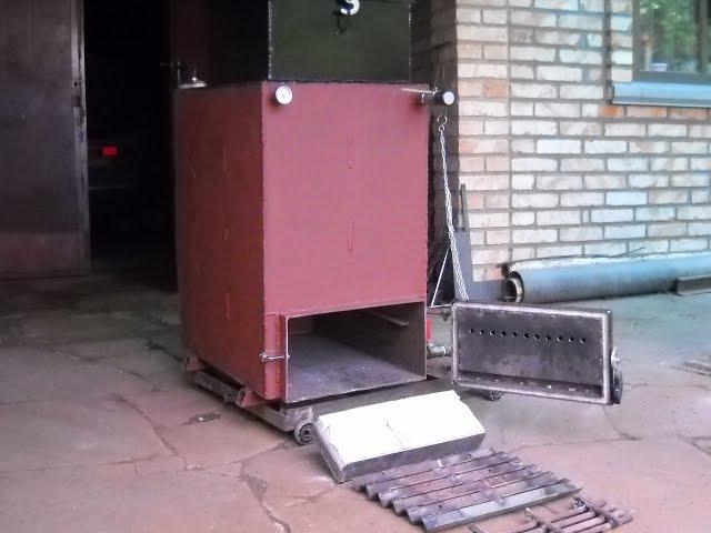Шахтный котел Холмова,10 Квт. Как изготовить и запустить..