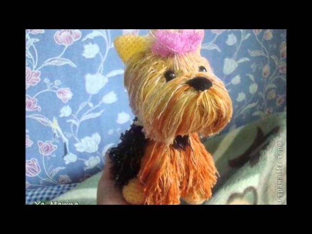 Perro Yorkshire terrier a crochet