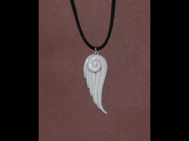 Whimsical Angel Wing Pendant Necklace Polymer Clay Tutorial