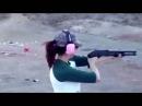Приколы с девушками - Девушки стреляют из разного оружия Прикольное видео