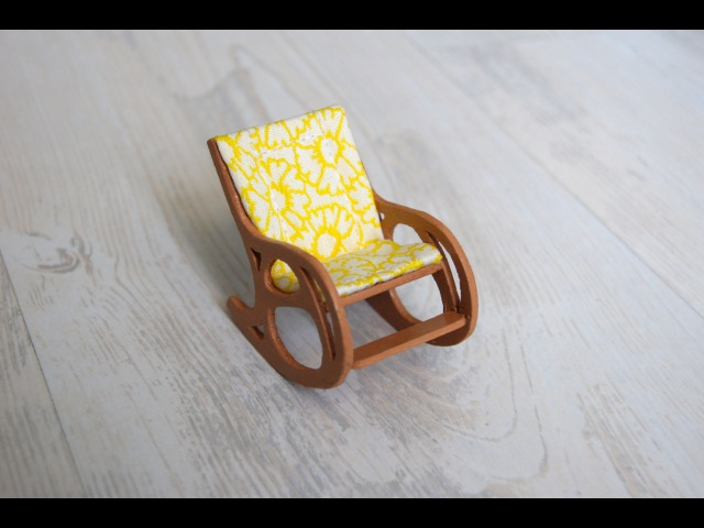 Кресло-качалка миниатюра Rocking chair miniature