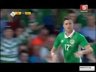 1:2 - Стивен Уорд. Ирландия - Беларусь (31 мая 2016. Товарищеский матч)