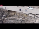 Оползень в Ульяновске с высоты птичьего полета. 11 апреля