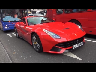 Awesome Supercars in London 2015! (Zonda 760, LaFs, Bugattis) AS SEEN ON ITV NEWS!