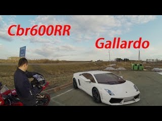 Cbr600rr 08 Wheelies and lamborgini gallardo GO PRO HD