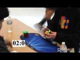 НОВЫЙ МИРОВОЙ РЕКОРД ПО СБОРКЕ КУБИКА РУБИКА 3Х3 4.90 | Rubik`s cube new world record