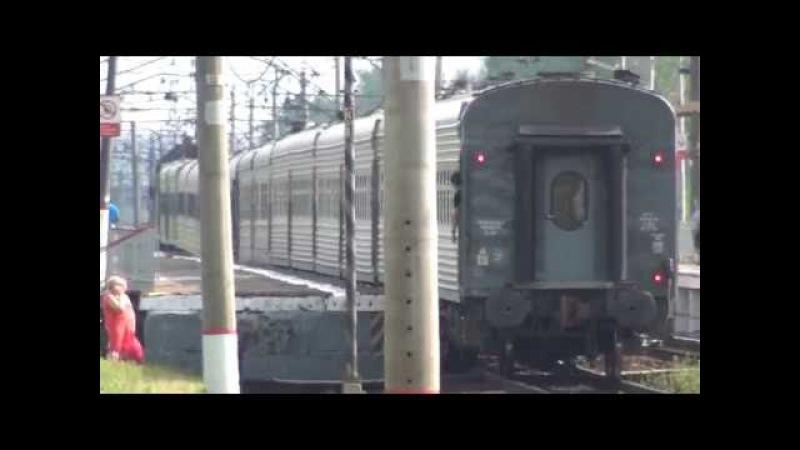 Электровоз ВЛ10 1130 с грузовым и ЭП20 004 с поездом Экстренное у ЭП20