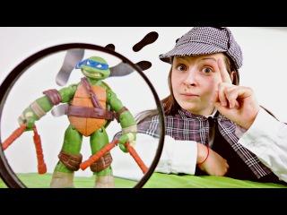 Черепашки Ниндзя: знакомство с Шерлоком Холмсом! Видео для детей