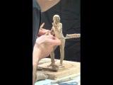 Clay sculpting demo Niccolo Paganini miniature time-lapse