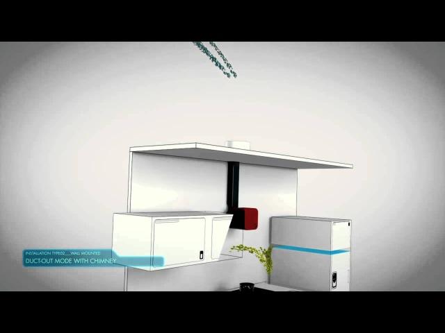 Elica 35cc 70cc Cube design вытяжка для кухни