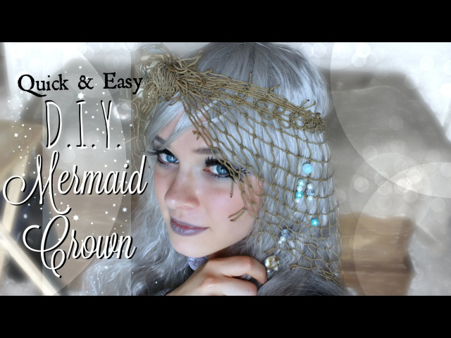 How to Make a Mermaid Crown out of Fishing Net EASY DIY Boho Hair Accessory | The Magic Crafter