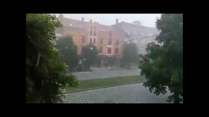 21.06.2016 Град влупив сьогодні по всьому Закарпатті!..(
