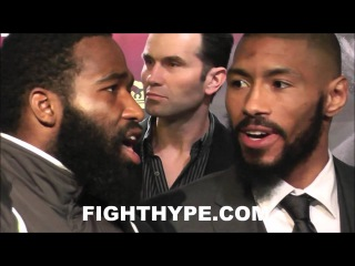 ADRIEN BRONER AND ASHLEY THEOPHANE TRADE WORDS DURING FACE OFF