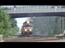 NS EMD SD75M 2806 Smokes Through Berea Ohio
