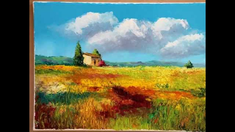Time lapse oil painting with palette knives. Speed painting by Jean-Marc JANIACZYK