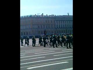 Оркестр Санкт-Петербургского гарнизона. (конец парада)