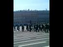 Оркестр Санкт-Петербургского гарнизона. конец парада